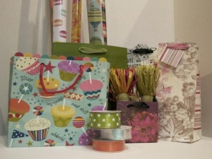 gift bags and wrap